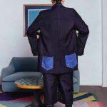Blazer with Denim Back Pockets