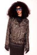 Sequin Biker Jacket