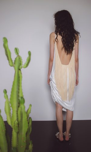 Nude Fringe Dress