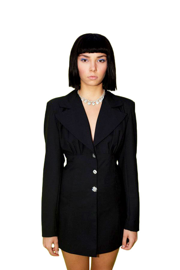 Black Arched Blazer