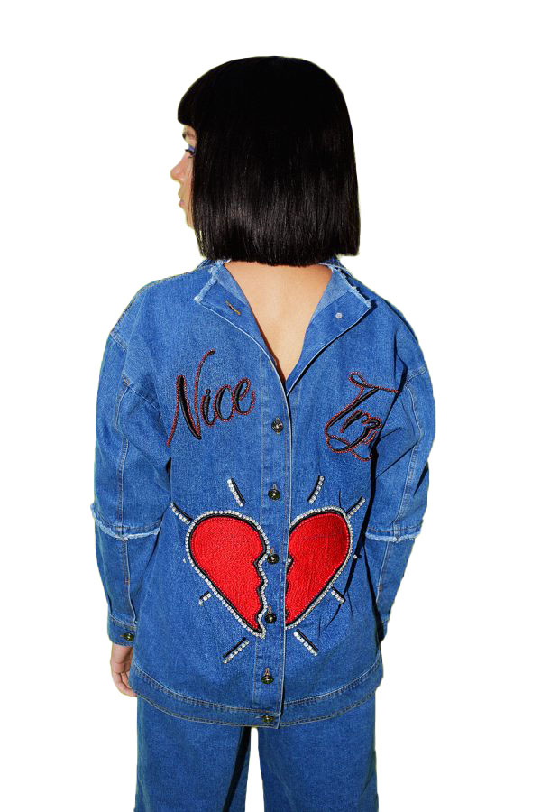 Hand Made Heart Denim Jacket