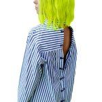 Open Back Stripes Shirt