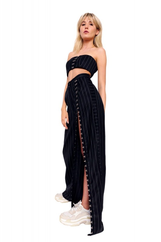 Co-Ord Black Top and Pants Set