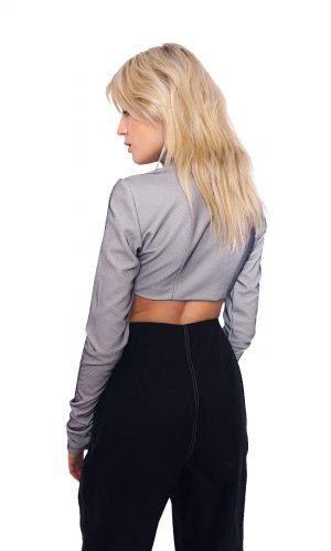 Cropped Top with Front Zipper