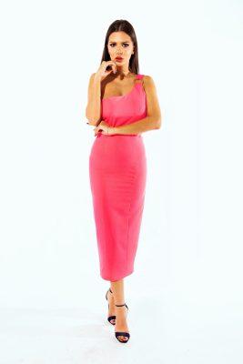 Barbie stretch fuchsia dress