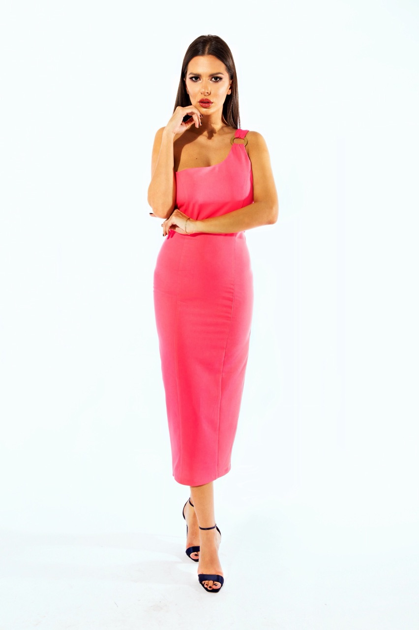 Barbie stretch fuchsia dress