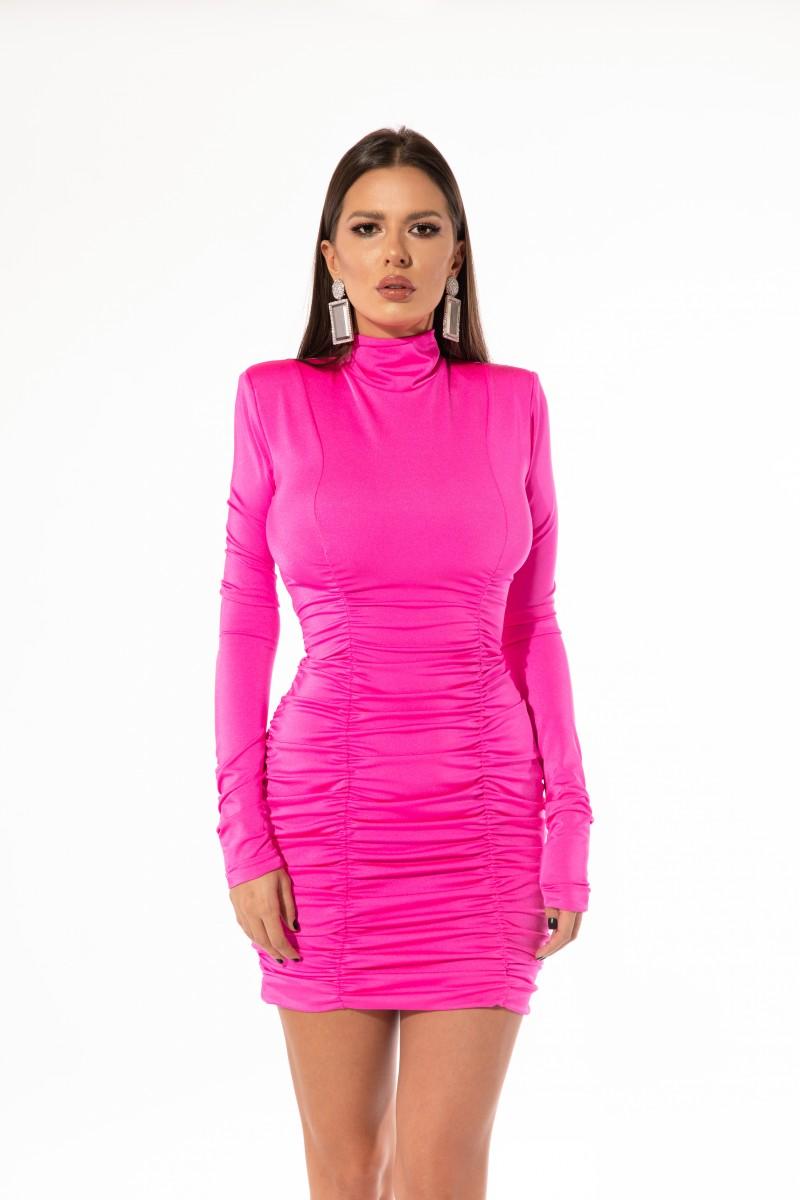 Pink lycra dress