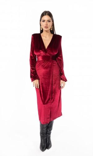 Velvet Burgundy Dress