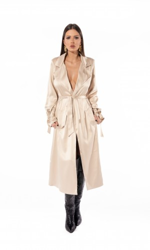 Trench nude dress