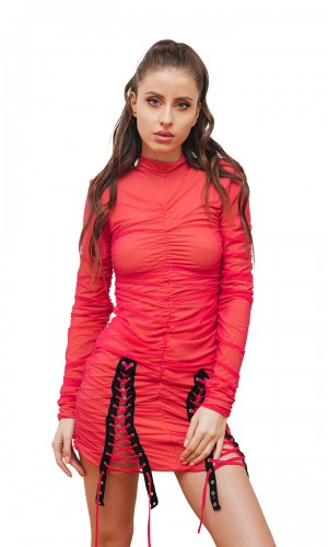 Neon Jumper with Corset