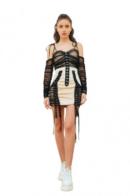 skirt back zipper closure