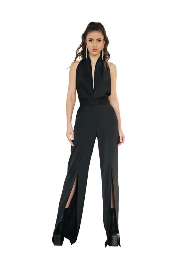 black silky jumpsuit0