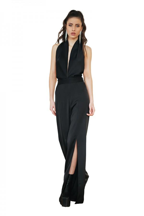 black silky jumpsuit1