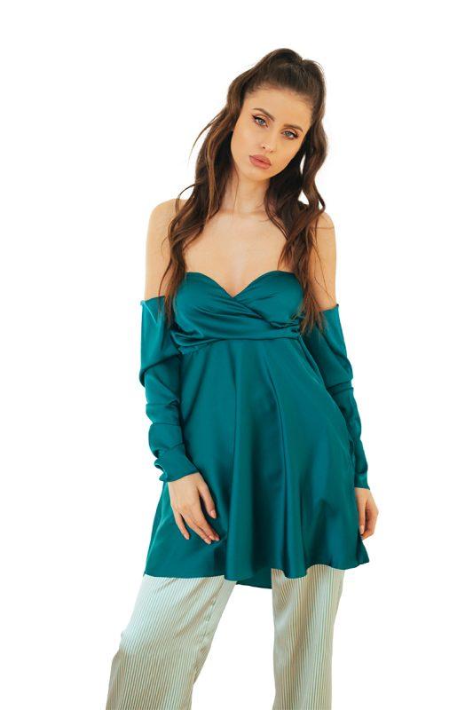 Satin Dress Top