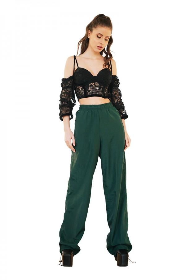 green track pants0