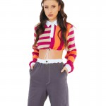 knit cropped pants0