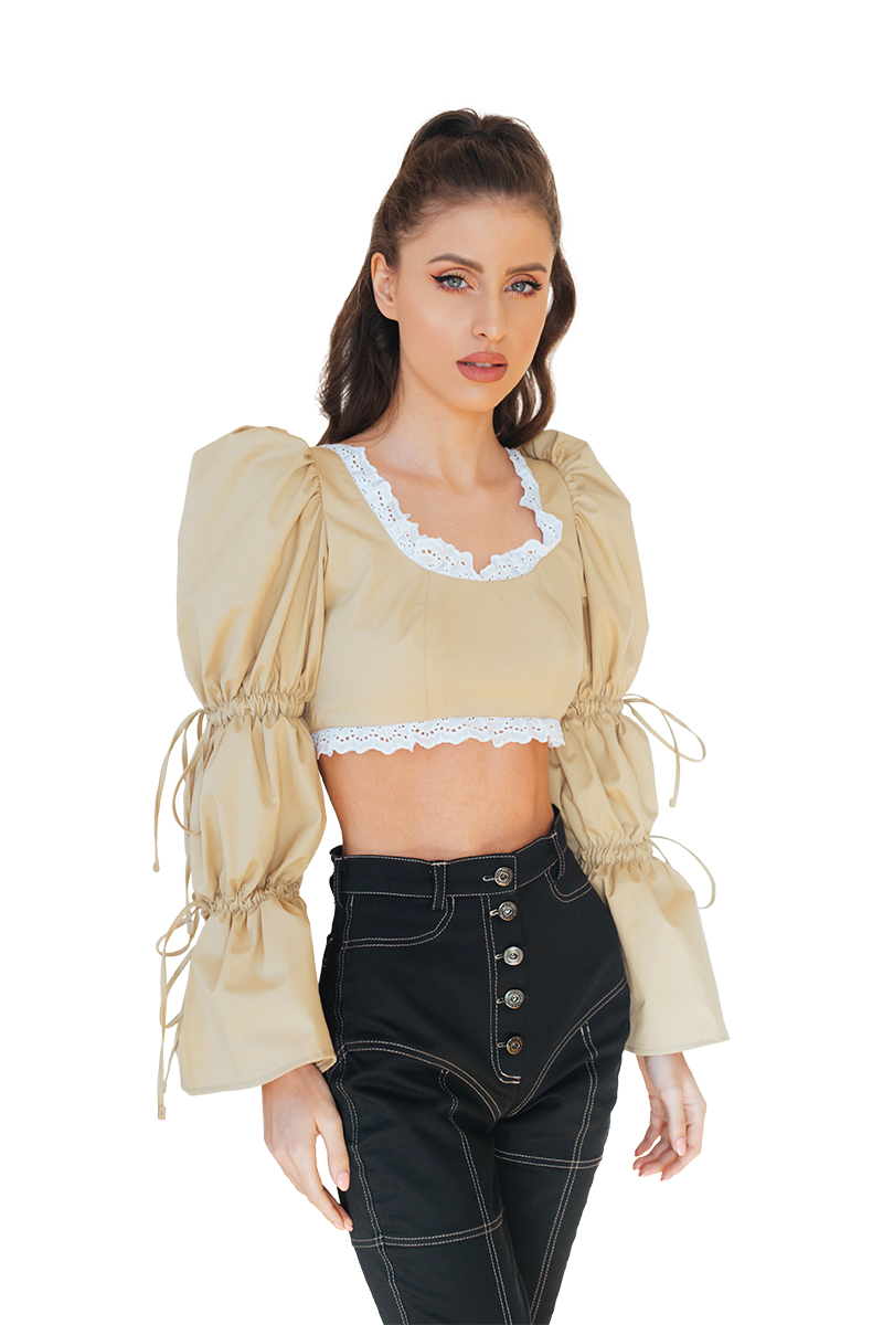 Nude Cropped Top