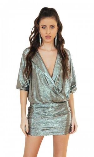 Silver Metalic Dress