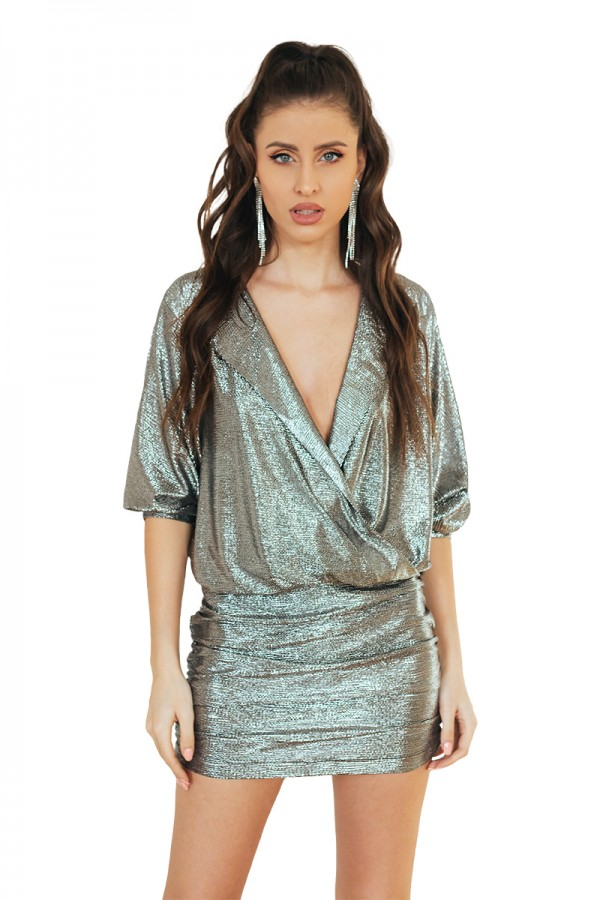 silver metalic dress0