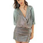 silver metalic dress1