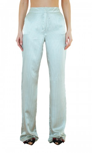 Striped Satin Pants