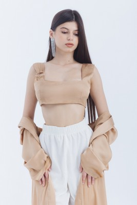 Satin Cropped Top